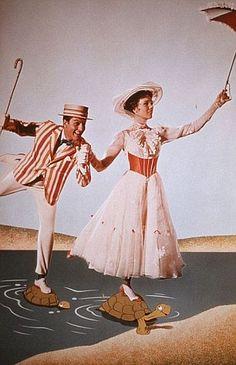 "My absolute number one favorite Disney movie. (Julie Andrews and Dick Van Dyke in ""Mary Poppins"". Julie Andrews Mary Poppins, Mary Poppins Movie, Mary Poppins 1964, Walt Disney, Disney Love, Disney Girls, Disney Stuff, Disney Magic, My Fair Lady"