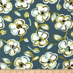 Contempo Dwellings Baby Bloom Teal Benartex fabrics