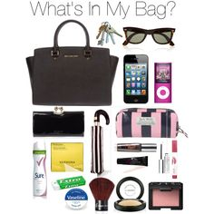"""What's In My Bag?"" by sophstyle on Polyvore"