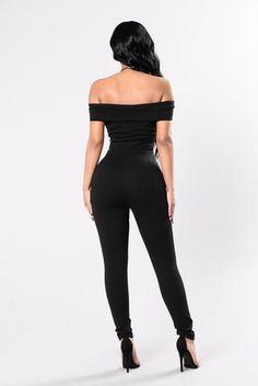 fafebbd3b392 City of Love Jumpsuit - Black Off Shoulder Jumpsuit
