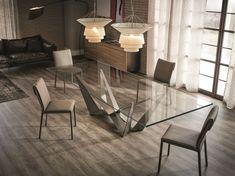 Mesa retangular de cristal SKORPIO by Cattelan Italia | design Andrea Lucatello