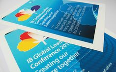 International Baccalaureate - Global Leaders Conference brand identity and event materials.