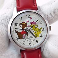"BONGO & LULUBELLE,Seiko,Disney Time.""Fun & Fancy Free"",Rare CHARACTER WATCH,490"