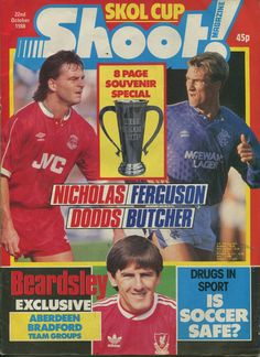 magazine in Oct 1978 featuring the Scottish League (Skol) Cup Final. British Football, Aviation News, Scientific American, Time Shop, Vintage Magazines, Soccer, Baseball Cards, 1970s, Sports