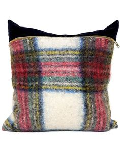 This Felted Mohair Scottish Tartan Lumbar also comes in a Throw Pillow, this is a textile full of classic vintage character. Vintage Textiles, Vintage Pillows, Lumbar Throw Pillow, Throw Pillows, Plaid Blanket, Canadian Art, Scottish Tartans, Cotton Velvet, Pillow Design
