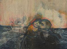 Mare Monstrum: Les peintures poignantes du périple des migrants par une artiste grecque|Georges Ranunkel Samos, Painting, Children, How To Paint, Artist, Young Children, Boys, Painting Art, Paintings