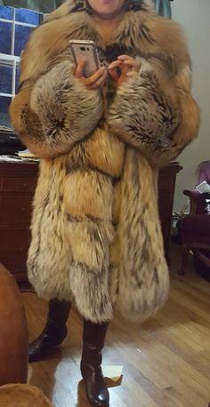 Cross fox fur coat | eBay