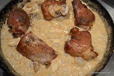Muschiulet de porc cu sos de ciuperci | Savori Urbane Romanian Food, Marsala, Steak, Steaks, Marsala Wine