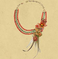 Exotic Flower Necklace 15274