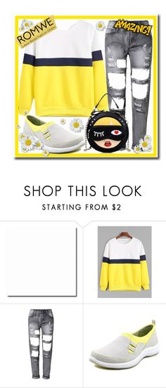 """romwe yellow"" by teto000 ❤ liked on Polyvore featuring Easy Street"