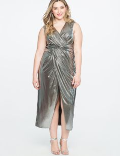 View our Twist Front Metallic Gown and shop our selection of plus size  designer women s Dresses 7e9d69c01c9