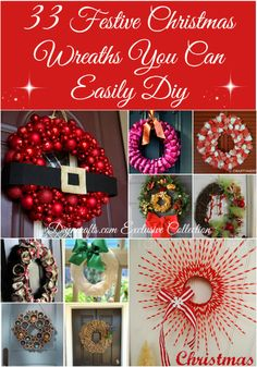 Despair In Youngsters - Realize To Get Rid Of It Wholly 33 Festive Christmas Wreaths You Can Easily Diy Christmas Is The Best Time To Decorate Inside And Out These Easy Christmas Wreaths Are Sure To Make Your House Look Amazing Try Making Your Own Festive All Things Christmas, Simple Christmas, Christmas Holidays, Christmas Bulbs, Christmas Swags, Burlap Christmas, Primitive Christmas, Country Christmas, Christmas Christmas