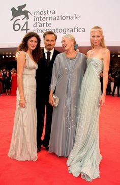 (From left) Vanessa's grandaughter Daisy Bevan, Franco Nero (Vanessa's husband) Vanessa Redgrave & daughter Joely Richardson arrived for the Opening Ceremony and the Atonement Premiere at the 64th Annual Venice Film Festival on August 29, 2007 in Venice, Italy. (Wireimage)