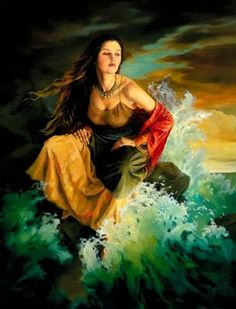 A beautiful ballad by my late friend James Pegler. Fantasy Women, Fantasy Art, Halloween Imagem, Wiccan Clothing, Gypsy Women, Sea Waves, Illustrations And Posters, Pictures To Paint, Oeuvre D'art