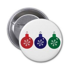 Christmas Baubles Pins  #Christmas #Baubles #Button #Pin