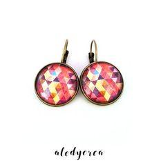 boucles d'oreilles cabochon motifs géométriques