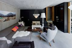 Livingroom - Villa Vals by SeARCH and CMA