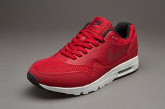 Nike Sportswear Womens Air Max 1 Ultra Essentials - Grey Red / Black / Sail