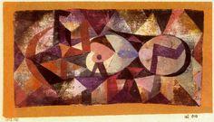 Ab ovo--Paul Klee--Watercolor & chalk on gauze