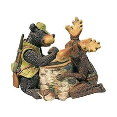 Design Toscano Moose and Black Bear Arm Wrestling Statue ** Details on product can be viewed by clicking the image