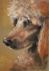 pretty poodle painting!