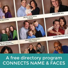 Free tools available for everyone to help connect names and faces of every family in your church. #lifetouchchurchdirectories