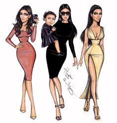 Hayden Williams Fashion Illustrations: Kim Kardashian West x3 by Hayden Williams