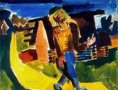 Karl Schmidt-Rottluff, Pintor Expresionista alemán y miembro fundador de Die Brücke