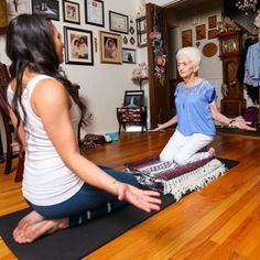 yoga grandmother heals back