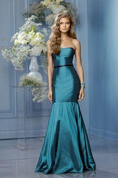 Wtoo Maids Dress 476. frosting dress, black trim