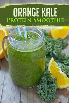 Orange Kale Protein Smoothie