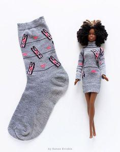 Barbie Kleidung Diy - Sanae Errabie - B - Diy Crafts Barbie Clothes For Sale, Sewing Barbie Clothes, Barbie Sewing Patterns, Vintage Barbie Clothes, Doll Clothes Patterns, Clothing Patterns, Diy Clothes, Clothes Storage, Clothes Hangers