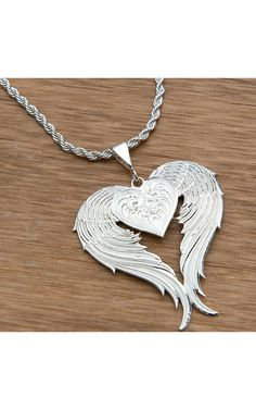 beautiful necklace...    Montana Silversmiths® Silver Winged Heart Necklacle | Cavender's