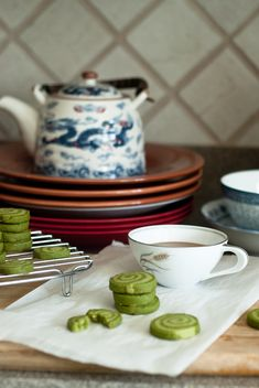 Matcha Green Tea Swirl cookies (includes recipe without swirl)