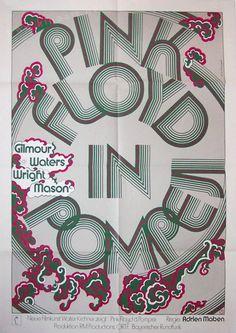 Pink Floyd: Live in Pompeii (Adrian Maben, 1972) German design by Isolde Monson-Baumgart