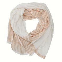 Beautiful footwear, handbags and accessories, #handmade in East Africa.  Check out Sseko Designs!  Every purchase helps to educate and empower women.  #ethicalfashion Betty Scarf: Peach