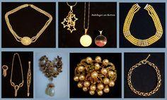 VINTAGE MODESCHMUCK/COSTUME JEWELRY Pendant Necklace, Vintage, Jewelry, Fashion, Pink, Necklaces, Bangle Bracelet, Gemstones, Fashion Jewelry