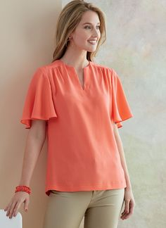 Butterick B6688 Misses' Tops | Easy — jaycotts.co.uk - Sewing Supplies