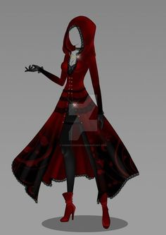 Fashion Drawing Clothes Style Character Design 67 Ideas For 2019 Dress Drawing, Drawing Clothes, Outfit Drawings, Anime Outfits, Cool Outfits, Kleidung Design, Little Red Dress, Dress Red, Little Red Hood