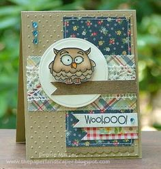 Cute card using Paper Smooches Chubby Chums set and Simple Stories Summer Fresh papers