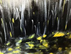 Glowing water (Mathias Sager, water mixable oil colour on canvas board, 46.7×38.1×0.4 cm (18.4″x15″0.16″)) #art #artist #painting #oil #oilpainting