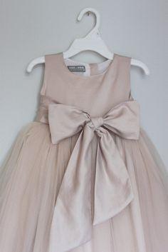 The Elizabeth Dress: Handmade flower girl dress, tulle dress, wedding dress, communion dress, bridesmaid dress, tutu dress