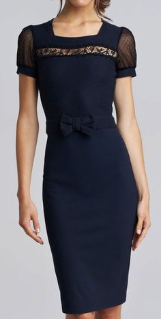 such an elegant understated bow at the waist... so perfectly feminine! ...love it.