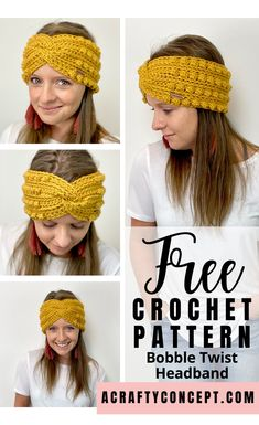 Crochet Projects Looking for a fast crochet project? This twisted headband works up super quick! Crochet Ear Warmer Pattern, Quick Crochet Patterns, Fast Crochet, Crochet Twist, Crochet Headband Free, Crochet Hats, Bobble Crochet, Knit Headband, Baby Headbands