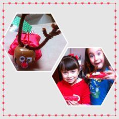 Trineos con caramelo# con regalo de #navidad  y #reno  #cascabel
