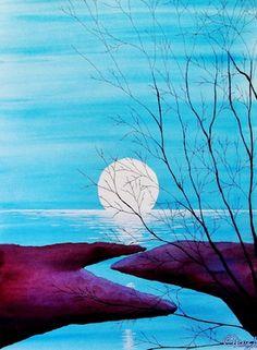 """Saatchi Online Artist Kyle Brock; Painting, """"As Night Rolls In III"""" #art"""