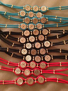 Bullet jewelry for women. Bullet Shell Jewelry, Shotgun Shell Jewelry, Bullet Casing Jewelry, Ammo Jewelry, Jewelry Crafts, Handmade Jewelry Bracelets, Redneck Crafts, Ammo Crafts, Bullet Casing Crafts