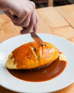 Omurice Recipe With Delicious Demi-Glace Sauce Omurice Recipe Japanese, Brunch Recipes, Breakfast Recipes, Brunch Ideas, Vegetarian Recipes, Cooking Recipes, Easy Casserole Recipes, Recipes, Vegetarian Food