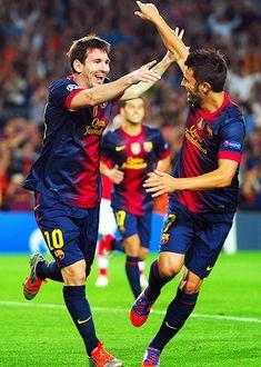 Lionel Messi + David Villa