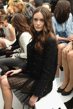 Chanel : Front Row - Paris Fashion Week - Haute Couture S/S 2015 - Stacy Martin